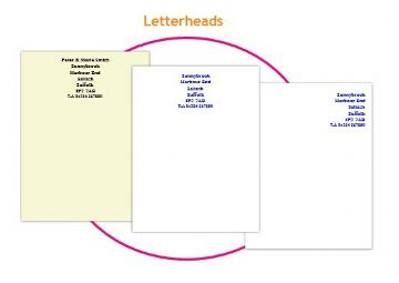 Order details for A4 Letterheads